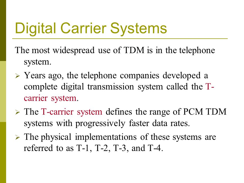 Digital Carrier Systems