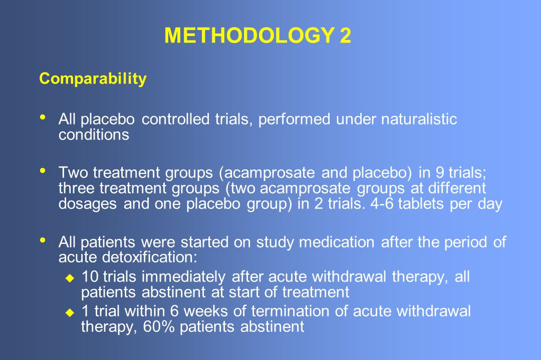 METHODOLOGY 2 Comparability