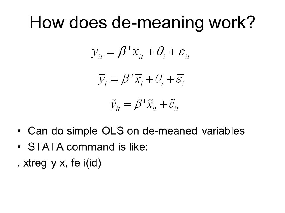 How does de-meaning work