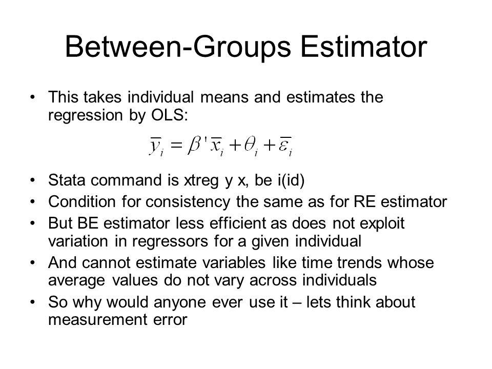 Between-Groups Estimator