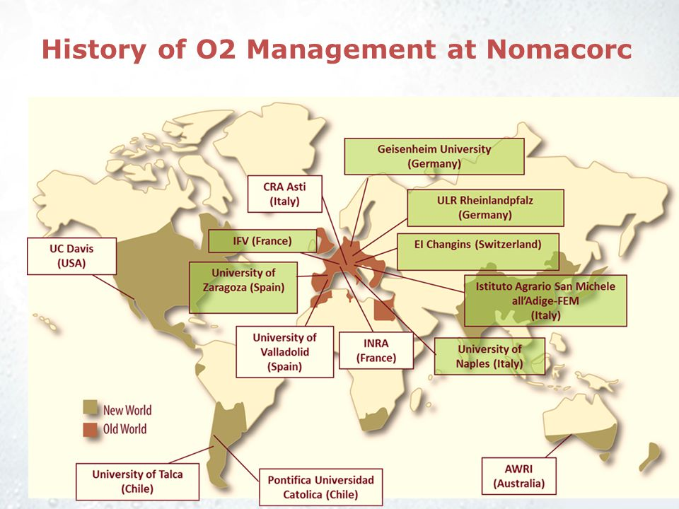 History of O2 Management at Nomacorc