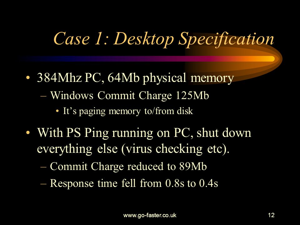 Case 1: Desktop Specification