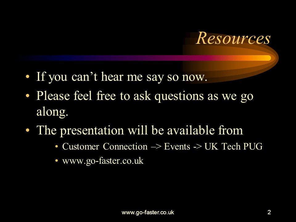 Resources If you can't hear me say so now.