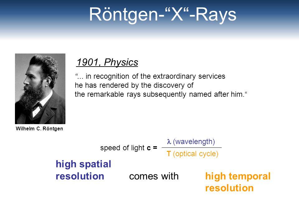 Röntgen- X -Rays 1901, Physics high spatial