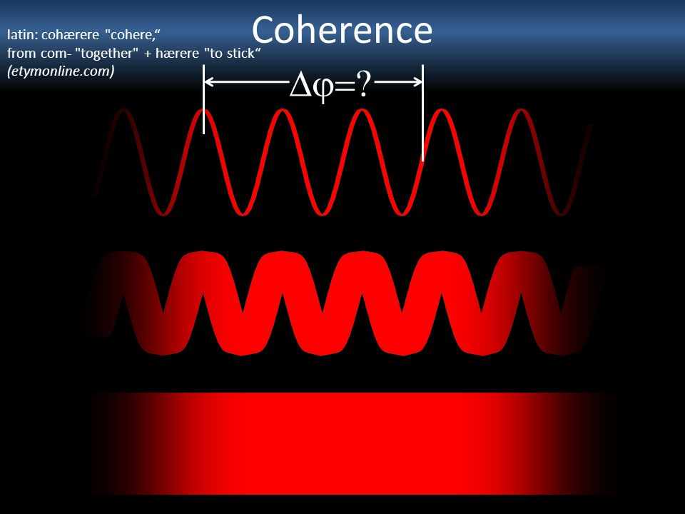 Coherence Dj= latin: cohærere cohere,