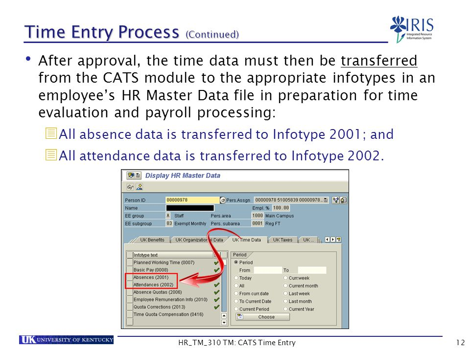 Time Entry Process (Continued)