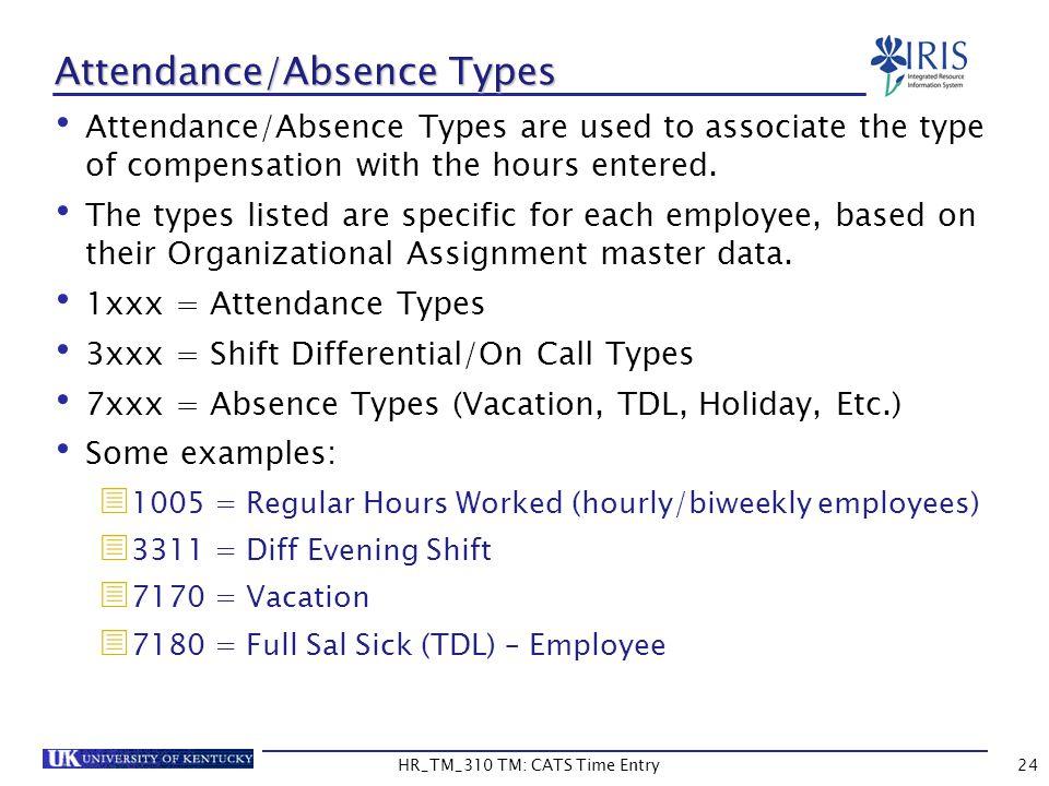 Attendance/Absence Types