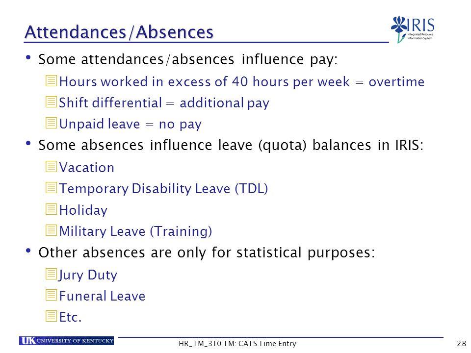 Attendances/Absences