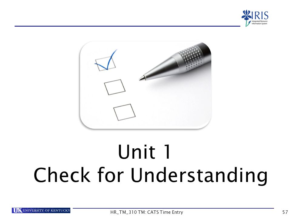 Unit 1 Check for Understanding