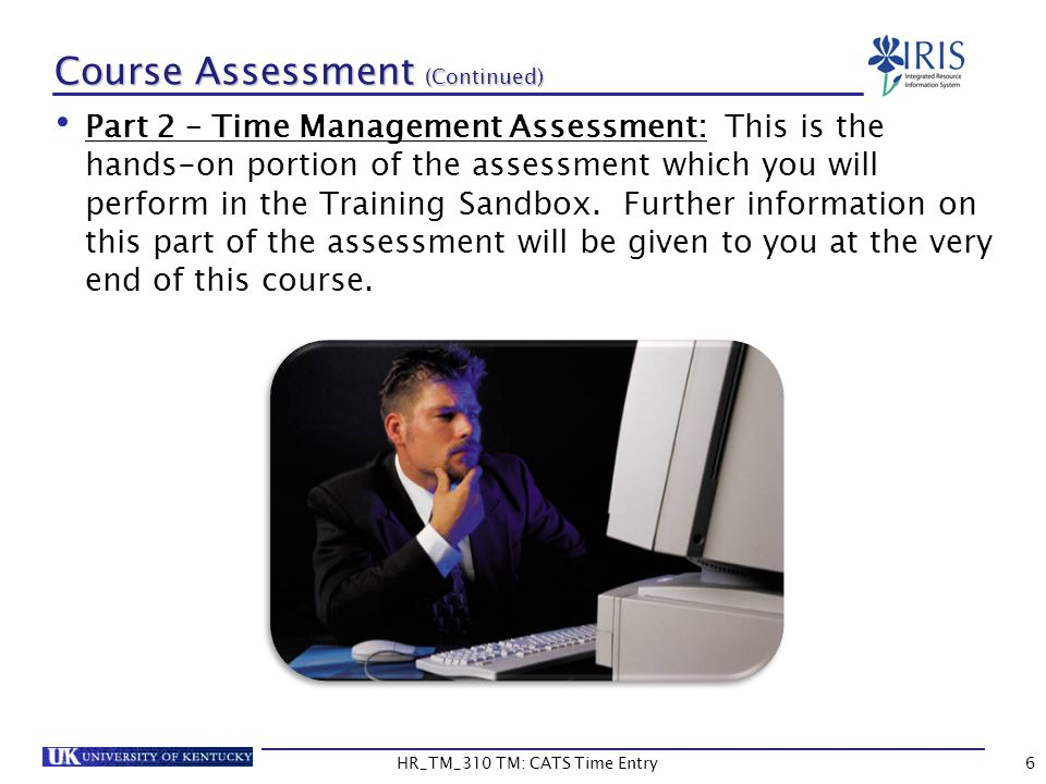 Course Assessment (Continued)