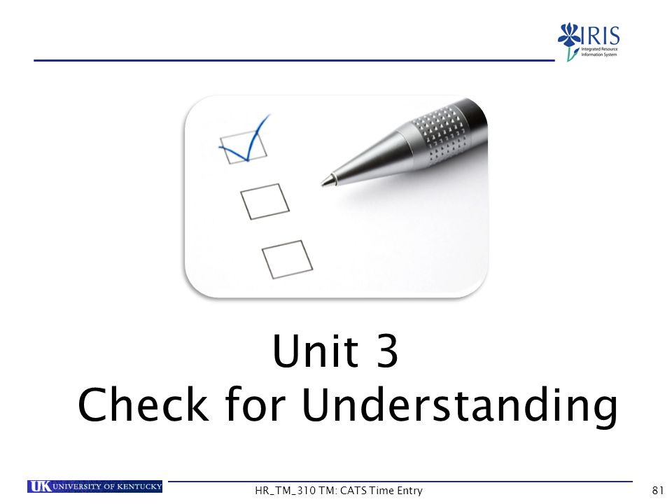 Unit 3 Check for Understanding