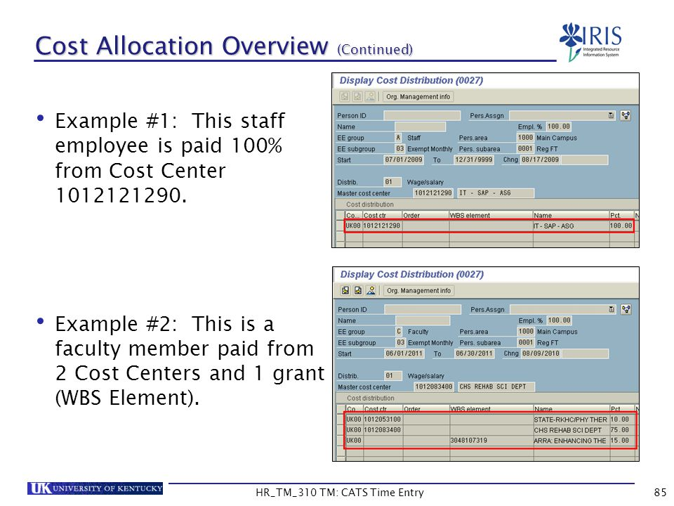 Cost Allocation Overview (Continued)