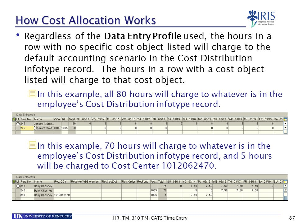 How Cost Allocation Works