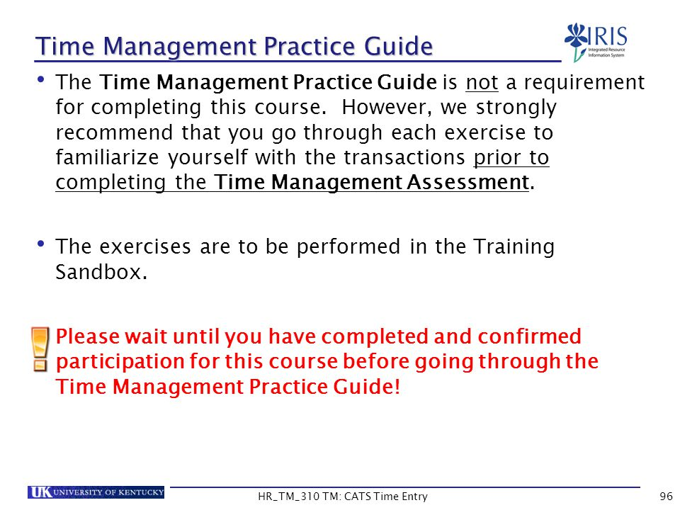 Time Management Practice Guide