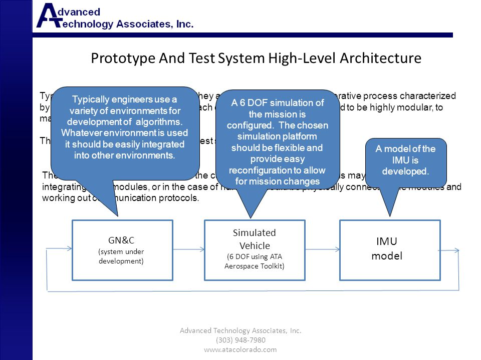 Prototype And Test System High-Level Architecture