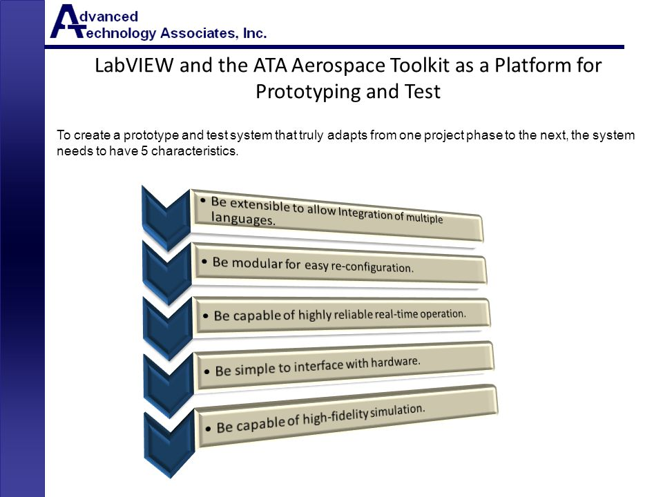 LabVIEW and the ATA Aerospace Toolkit as a Platform for Prototyping and Test