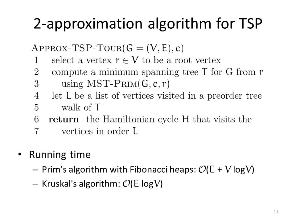 2-approximation algorithm for TSP
