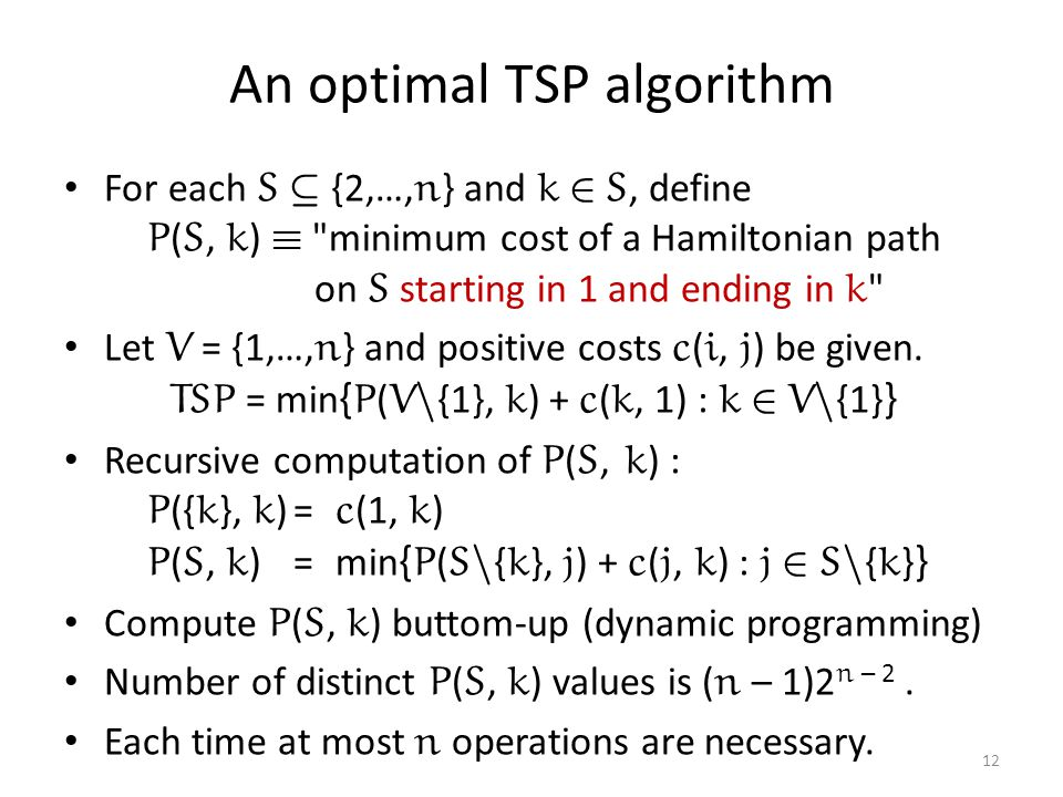 An optimal TSP algorithm