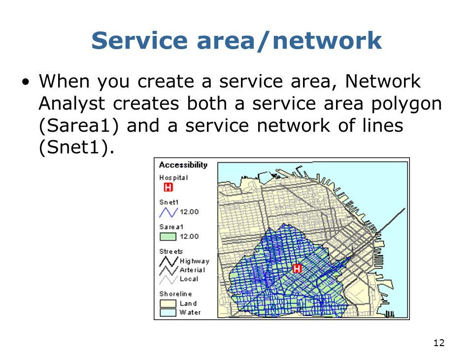 Service area/network