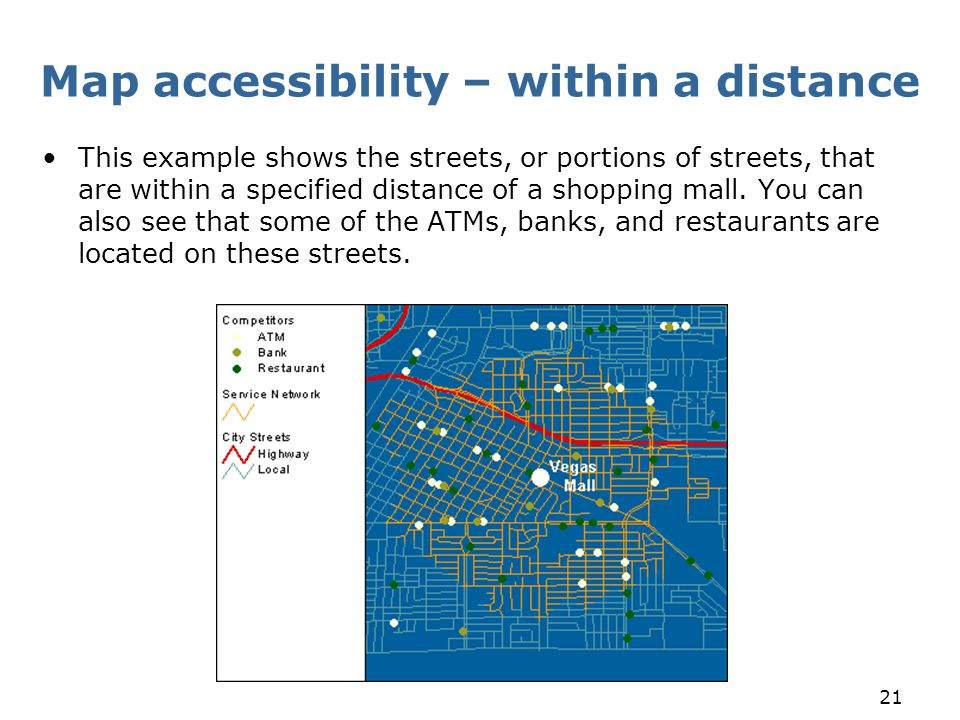 Map accessibility – within a distance