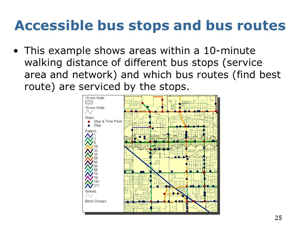 Accessible bus stops and bus routes