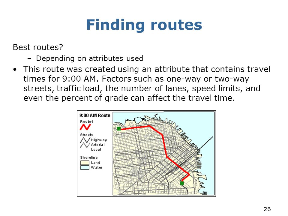 Finding routes Best routes
