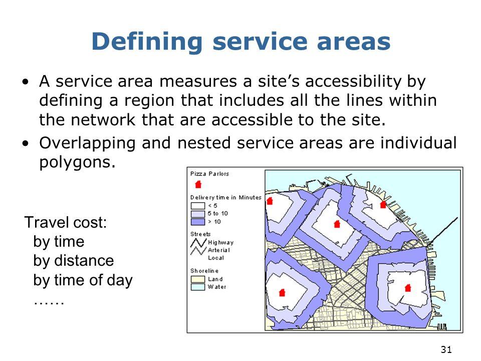 Defining service areas