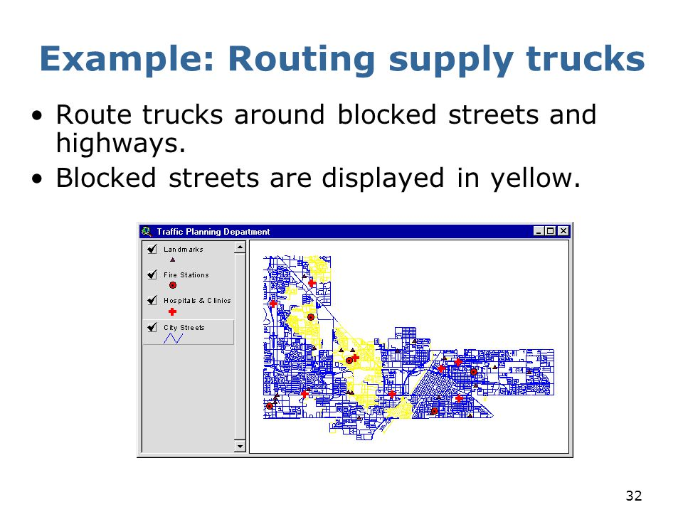 Example: Routing supply trucks