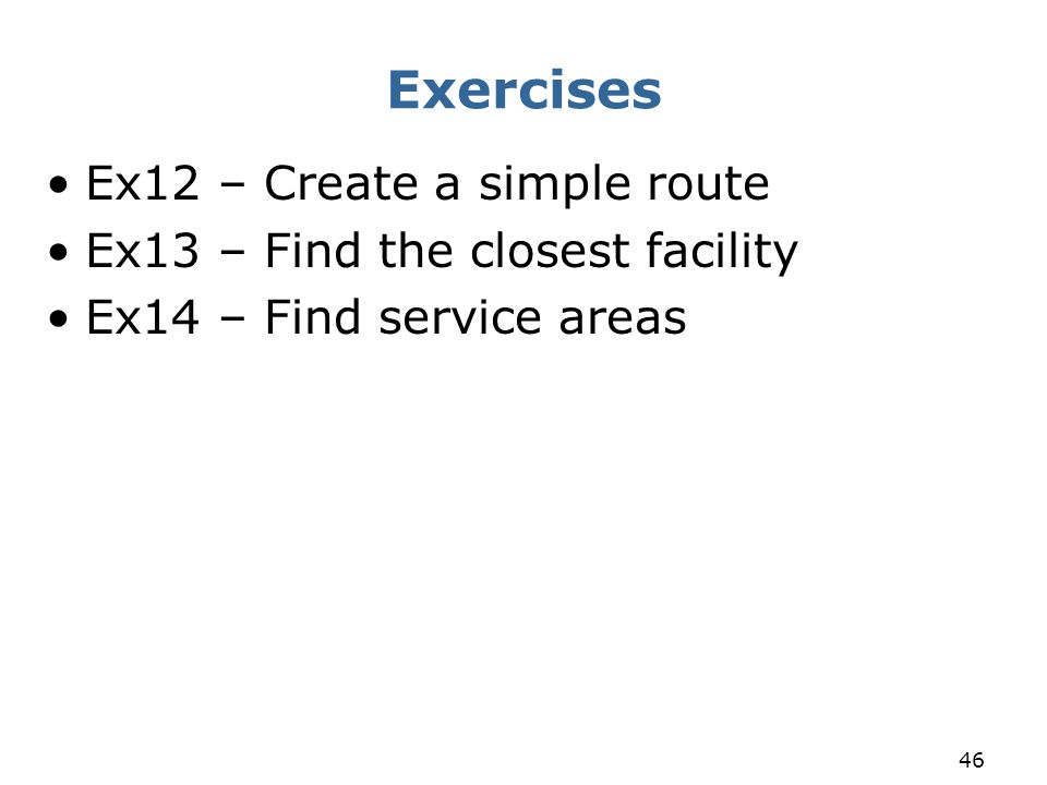 Exercises Ex12 – Create a simple route