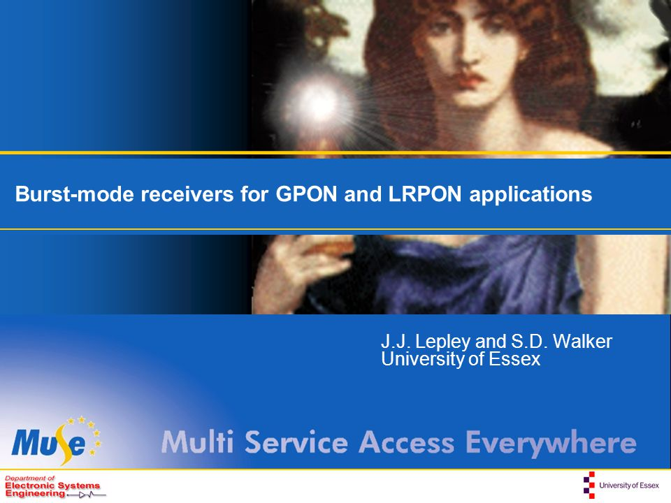 Burst-mode receivers for GPON and LRPON applications
