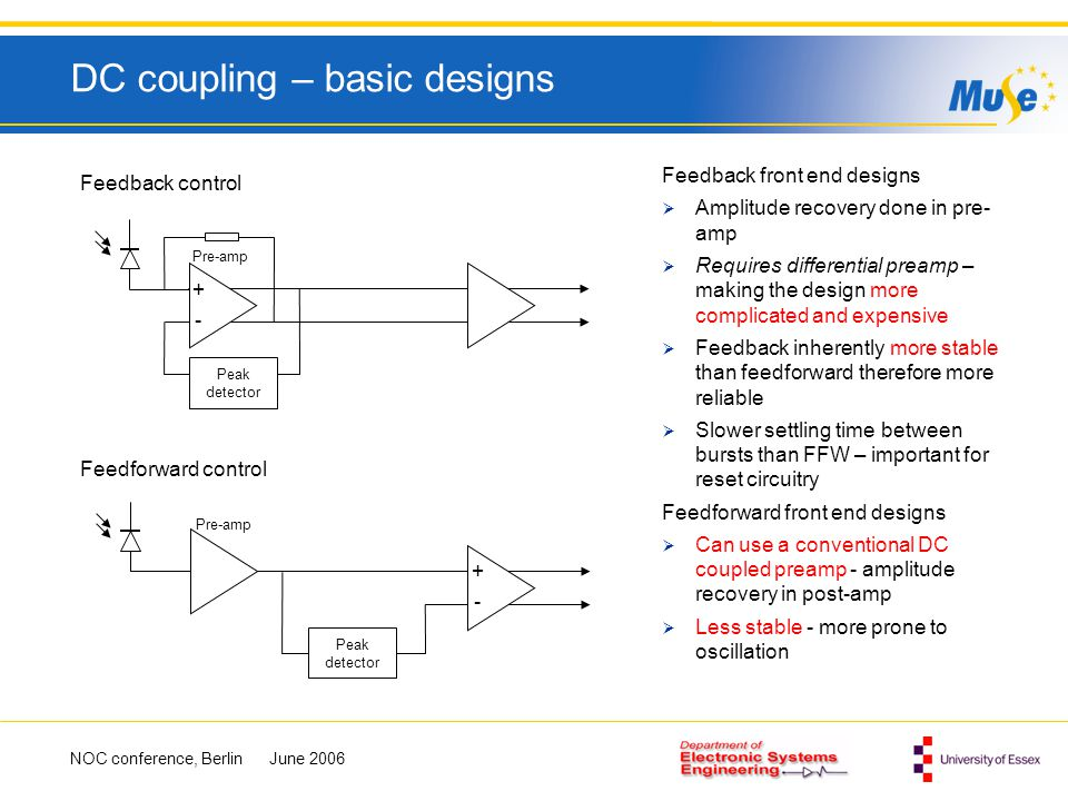 DC coupling – basic designs