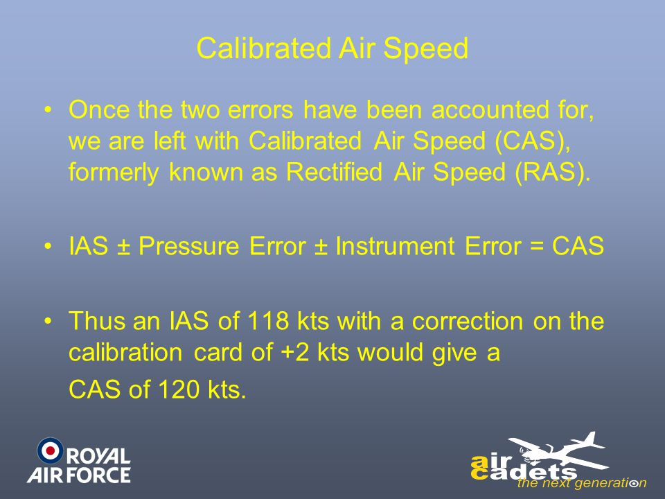 Calibrated Air Speed