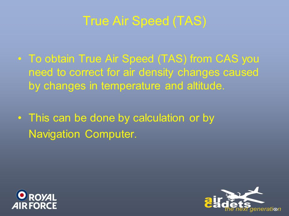 True Air Speed (TAS)