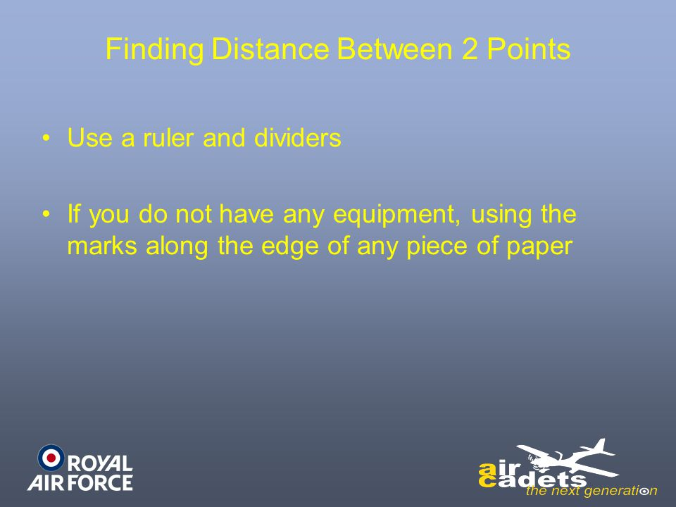 Finding Distance Between 2 Points
