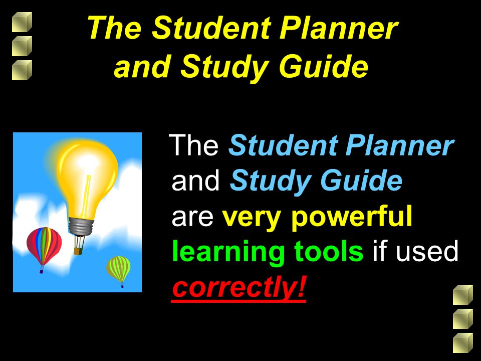 The Student Planner and Study Guide
