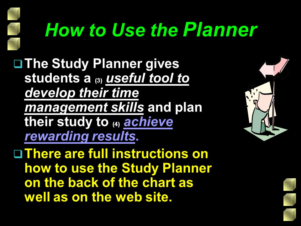 How to Use the Planner