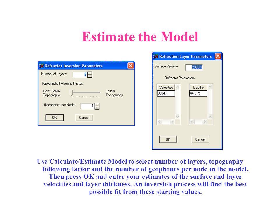 Estimate the Model