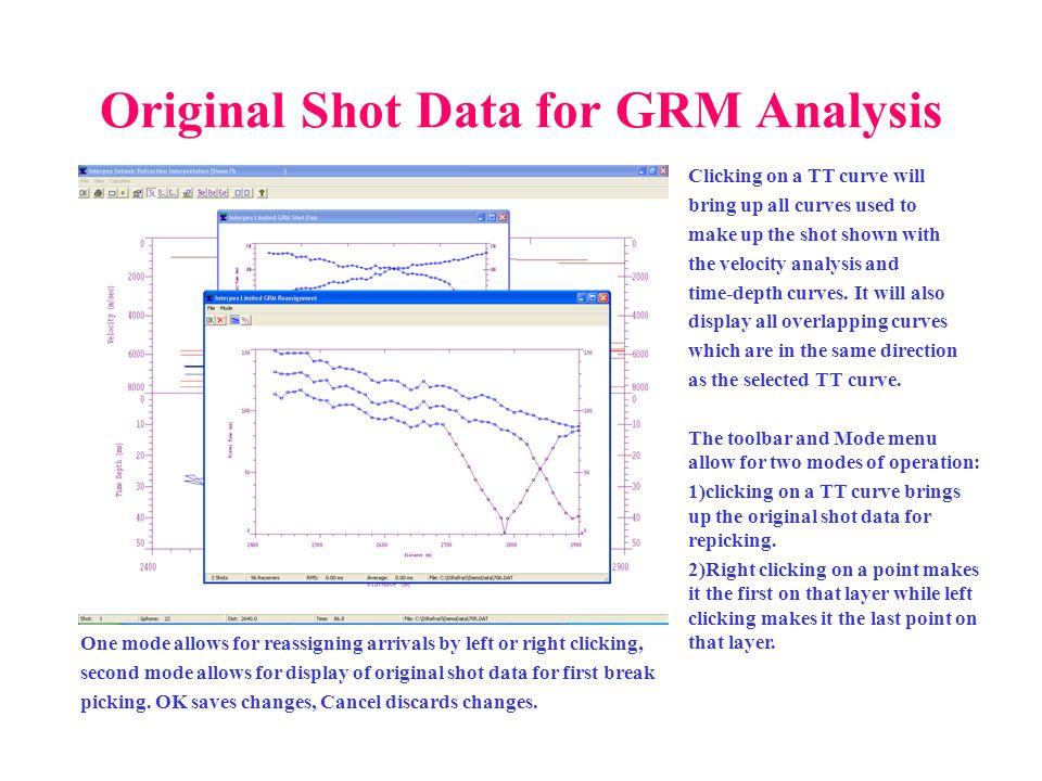 Original Shot Data for GRM Analysis