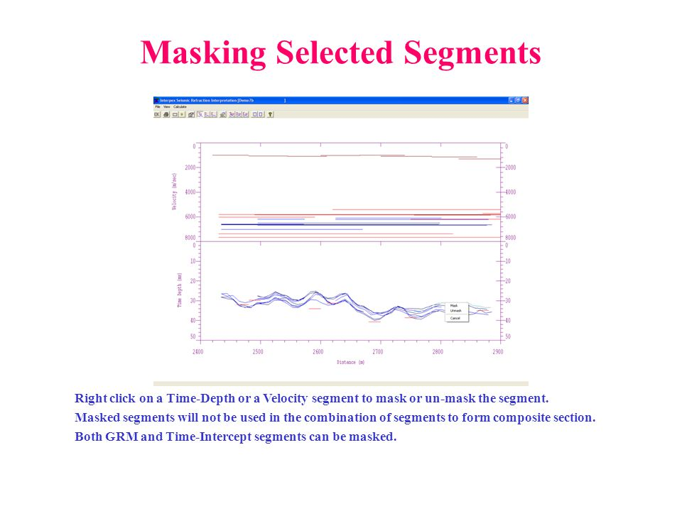 Masking Selected Segments