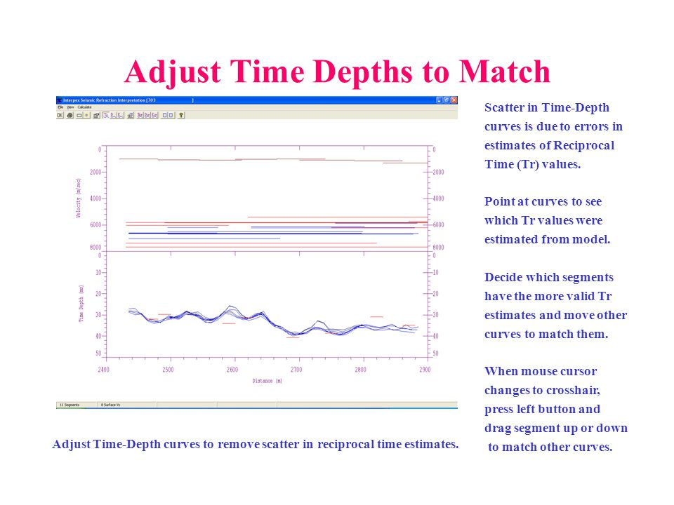 Adjust Time Depths to Match