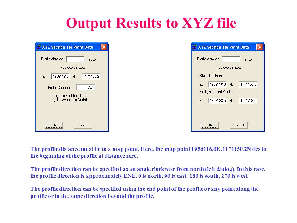 Output Results to XYZ file