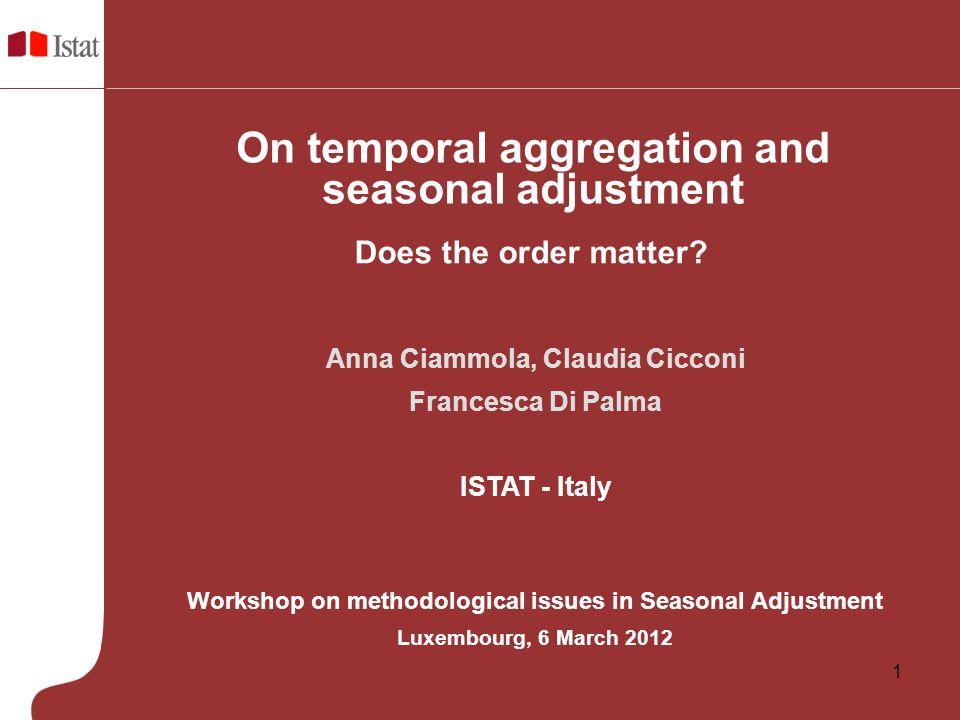 On temporal aggregation and seasonal adjustment