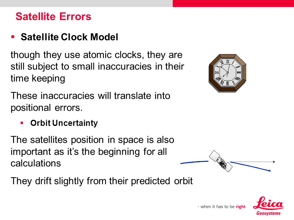 Satellite Errors Satellite Clock Model