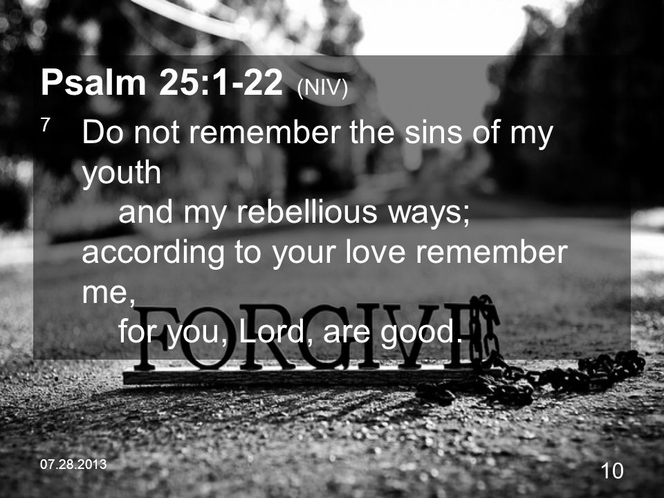 Psalm 25:1-22 (NIV)
