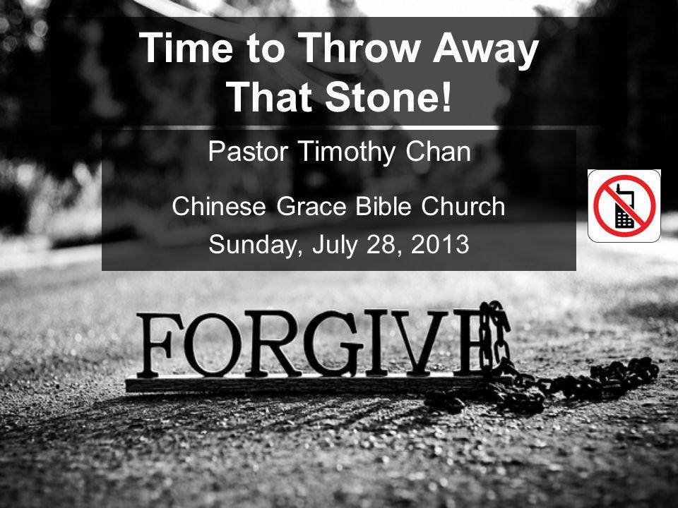 Time to Throw Away That Stone!