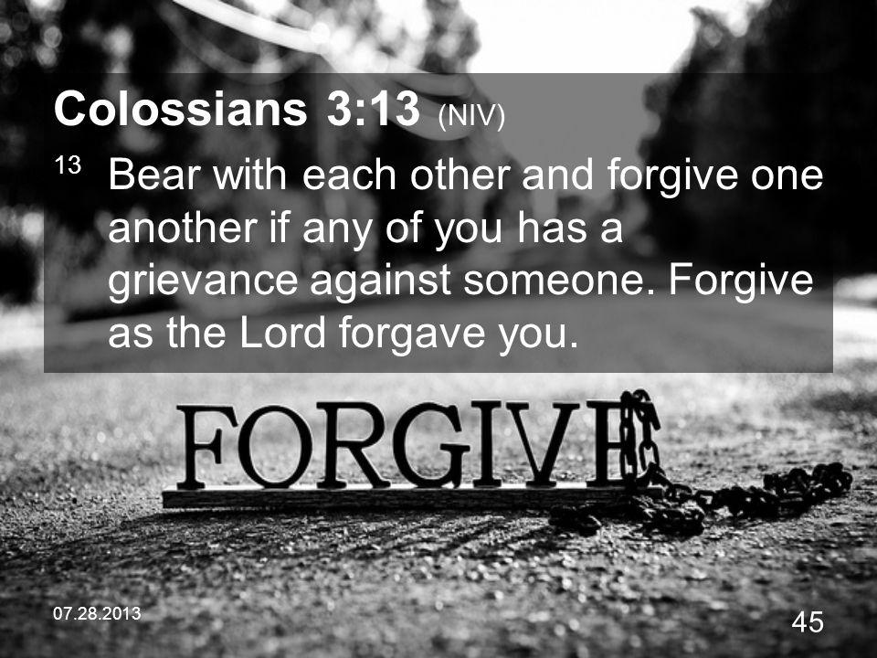 Colossians 3:13 (NIV)