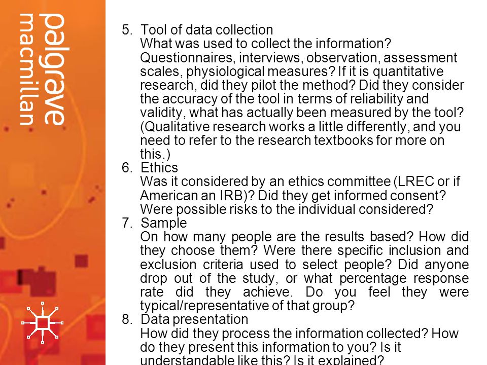 5. Tool of data collection