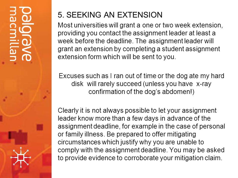 5. SEEKING AN EXTENSION