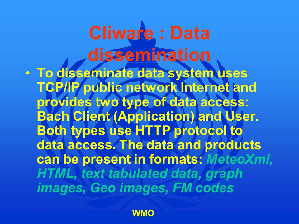 Cliware : Data dissemination