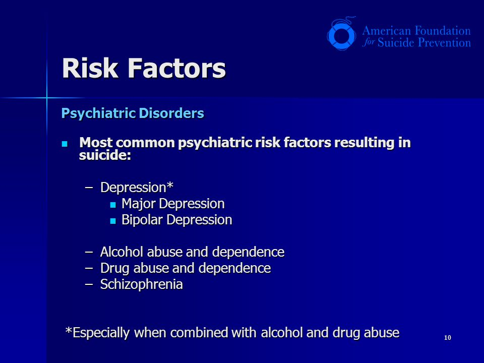 Risk Factors Psychiatric Disorders